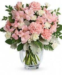 With our sincere condolences Fresh arrangement
