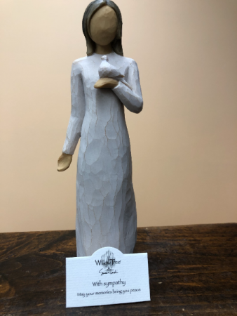 """WITH SYMPATHY"" WILLOW TREE FIGURINE"