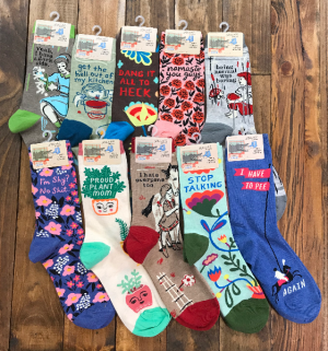 Women's Blue Q Socks  in Yankton, SD | Pied Piper Flowers & Gifts