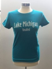 Women's Blue Tshirt Front