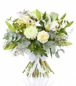 Tranquility in White 40.00  60.00  80.00 in Abbotsford, BC | BUCKETS FRESH FLOWER MARKET