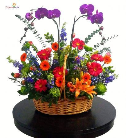 Wonderful Patch Basket Arrangement