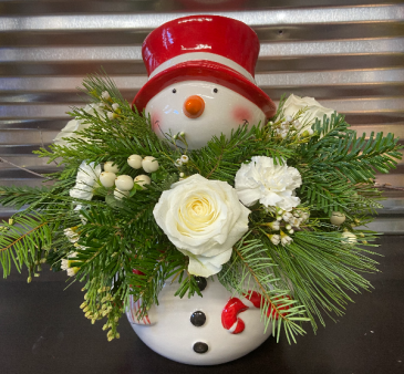 Wonderful Snowman Cookie Jar