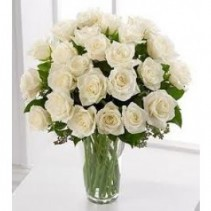 Wonderful White 2 Dozen White Roses