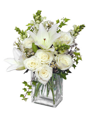Wonderful White Bouquet of Flowers in North Adams, MA | MOUNT WILLIAMS GREENHOUSES INC