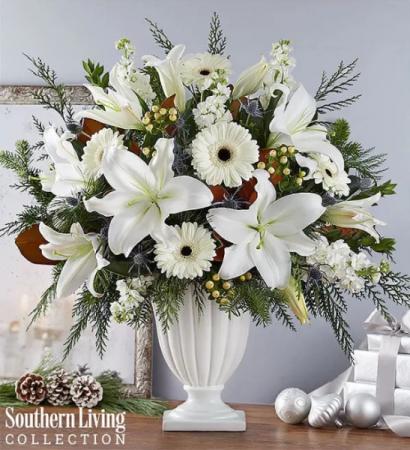 Wonderful Winter Pedestal by Southern Living® Arrangement