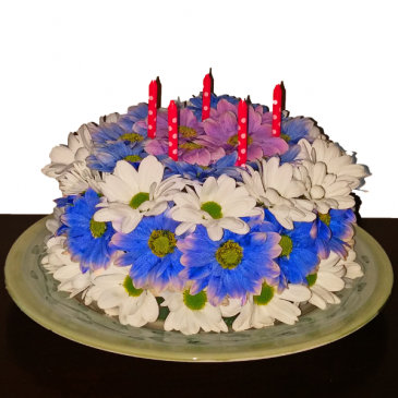Wonderful Wishes Floral Cake