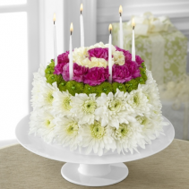 Wonderful Wishes Floral Cake  Birthday Arrangement