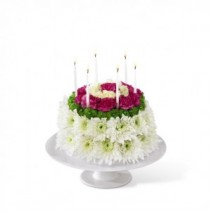 Wonderful Wishes Floral Cake FTD Arrangement