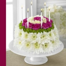 Wonderful Wishes Floral Cake Happy Birthday