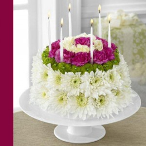 Wonderful Wishes Floral Cake Happy Birthday