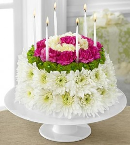 Wonderful Wishes Floral Cake Including Cake Plate FTD