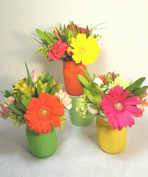 Wonderful You Ball Jar Arrangement in White Oak, PA | Breitinger's Flowers & Gifts