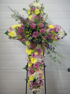 Wonderous Cross Standing Cross Easel in White Oak, PA | Breitinger's Flowers & Gifts