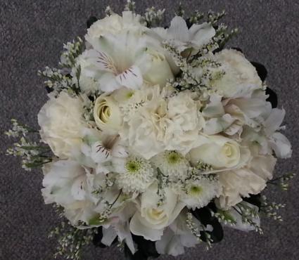Wonderous White Wedding Bouquet