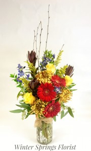 Wondrous Autumn Vased Arrangement in Winter Springs, FL | WINTER SPRINGS FLORIST AND GIFTS