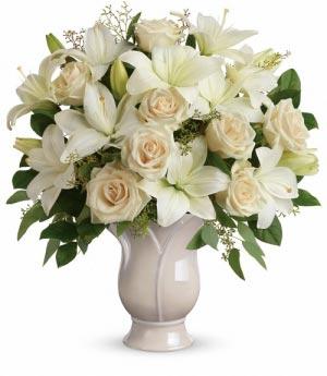 Wondrous Life Bouquet White Lilies Arrangement in Miami, FL   FLOWERTOPIA