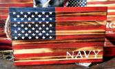 Wood Flag Navy