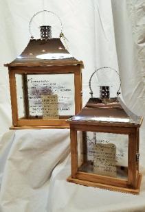 Wood Lantern w/ LED Candle