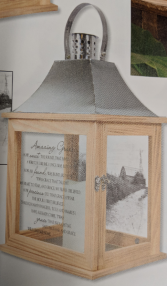 Wood toned sympathy lantern