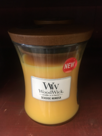 Wood Wick candle Seaside mimosa