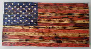 Wooden American Flag Wall Sign in Plain City, OH | PLAIN CITY FLORIST