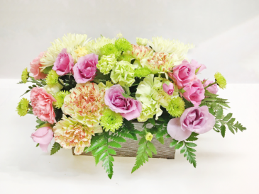 WOODEN BOX WONDER Wooden Box of Flowers