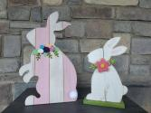 Wooden Bunnies Porch decoration