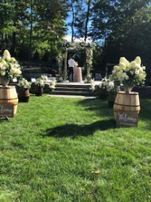 wooden chuppah and barrel   chuppah