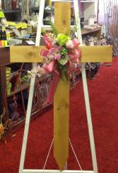 Wooden cross pink Memorial