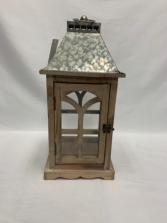 Wooden Lantern with opening door