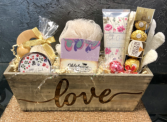 Wooden Love Pamper  Box