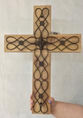 Wooden Metal Cross  Gift