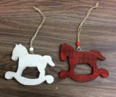 Wooden rocking horse tree ornament Egraveable Christmas Tree Ornaments