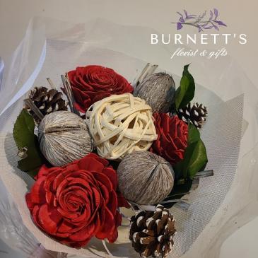Wooden Rose Bouquet Dried Bouquet