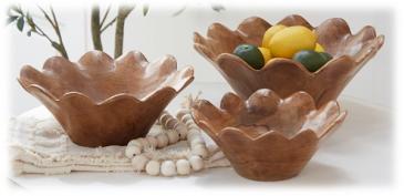 Wooden Rose Bowls