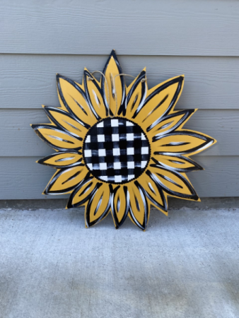 Wooden Sunflower Door Hanger