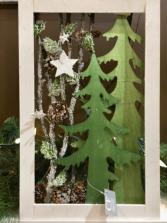 Wooden White & Green Decor Frame  Giftware Decor