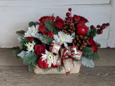 Woodland Christmas Fresh Arrangement