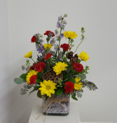 Woodland cube fresh arrangement Flower Arrangement