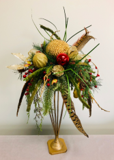 Woodland Holiday Silk Arrangement