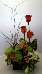 Woodland Rose Garden Master Designer Arrangement in Springfield, IL | FLOWERS BY MARY LOU