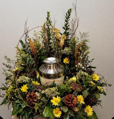 Woodland urn wreath