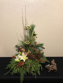Woodland Winter Holiday Keepsake Arrangement