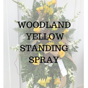 Woodland Yellow Standing Spray in Huntington, TX | LIZA'S GARDEN
