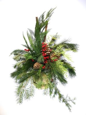 Woodlands Christmas Basket arrangement in Invermere, BC | INSPIRE FLORAL BOUTIQUE