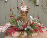 Woodsy Santa Box Silk Arrangement