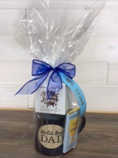 World's best dad mug, Chocolate bomb & #1 dad milk chocolate bar