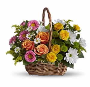 Woven Garden Arrangement in Redlands, CA | REDLAND'S BOUQUET FLORIST & MORE