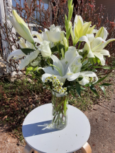 wow lilies and roses lilie and roses all white